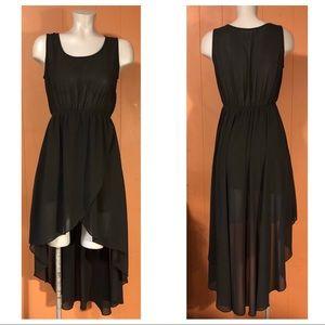 Sans Souci Black Hi-Low Dress, size Small